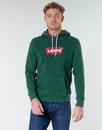 material Men sweaters Levi's MODERN HM HOODIE Green / Grey