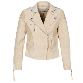 material Women Leather jackets / Imitation le Vila VICRIS Beige