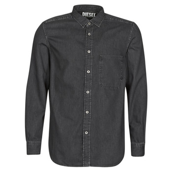 material Men long-sleeved shirts Diesel D-BER-P Black