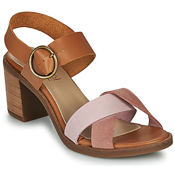 Shoes Women Sandals Casual Attitude MEL Camel / Pink