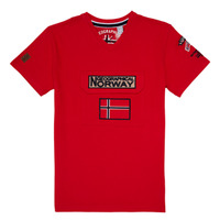material Boy short-sleeved t-shirts Geographical Norway JIRI Red