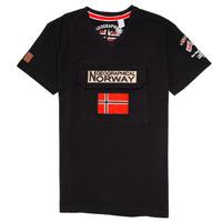 material Boy short-sleeved t-shirts Geographical Norway JIRI Black