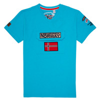 material Boy short-sleeved t-shirts Geographical Norway JIRI Turquoise