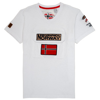 material Boy short-sleeved t-shirts Geographical Norway JIRI White