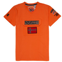 material Boy short-sleeved t-shirts Geographical Norway JIRI Orange