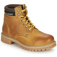 Shoes Boy Mid boots Jack & Jones JR STATTON LEATHER Honey