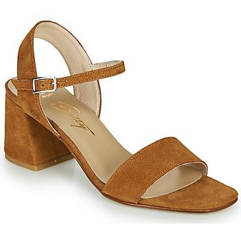 Shoes Women Sandals Betty London MAKITA Cognac