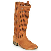 Shoes Women Boots Betty London DIVOUI Cognac