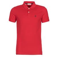 material Men short-sleeved polo shirts Selected SLHARO Red