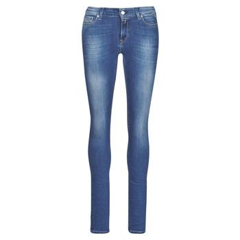 material Women Skinny jeans Replay LUZ Blue / Dark