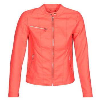 material Women Leather jackets / Imitation le Only ONLMELANIE Red