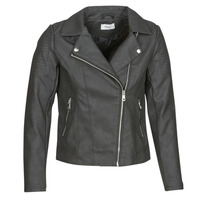 material Women Leather jackets / Imitation le Only ONLMELANIE BIKER Black