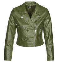 material Women Leather jackets / Imitation le Only ONLENYA Green