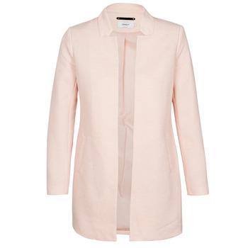 material Women coats Only ONLSOHO Pink