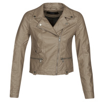 material Women Leather jackets / Imitation le Vero Moda VMULTRAMALOU Taupe