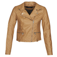 material Women Leather jackets / Imitation le Vero Moda VMULTRAMALOU Cognac