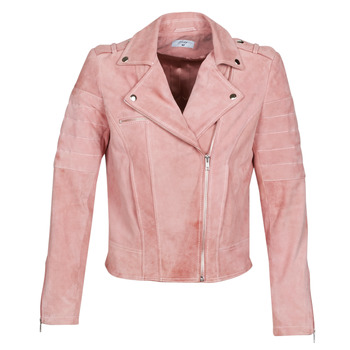 material Women Leather jackets / Imitation le Betty London MARILINE Pink