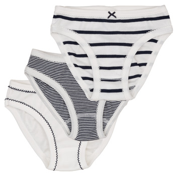 Underwear Girl Knickers/panties Petit Bateau 53308 White / Blue