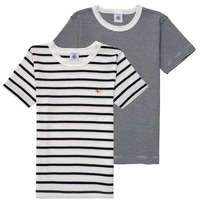 material Boy short-sleeved t-shirts Petit Bateau  White / Blue