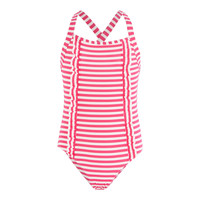 material Girl Swimsuits Petit Bateau FLOTTANT Pink / White