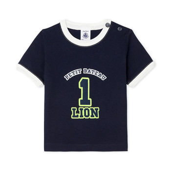 material Boy short-sleeved t-shirts Petit Bateau FUDGE Blue