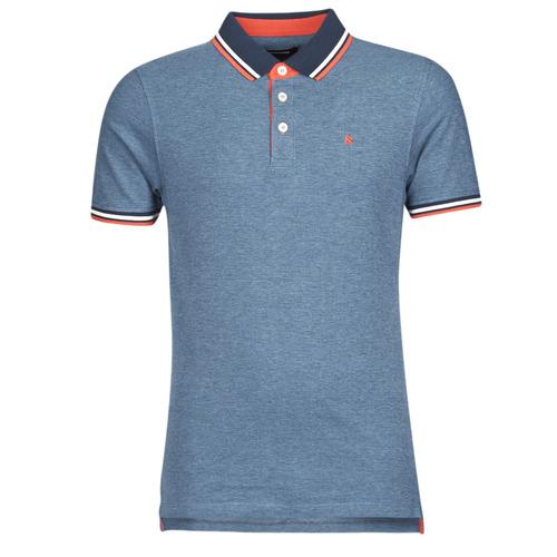material Men short-sleeved polo shirts Jack & Jones JJEPAULOS Blue
