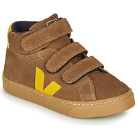Shoes Children High top trainers Veja SMALL-ESPLAR-MID Brown / Yellow