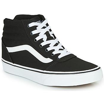 Shoes Women High top trainers Vans WARD HI Black