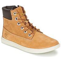 Shoes Children High top trainers Timberland GROVETON 6IN LACE WITH SIDE ZIP Wheat
