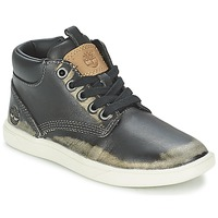 Shoes Children Mid boots Timberland GROVETON LEATHER CHUKKA Black
