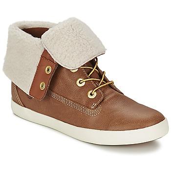Shoes Women Mid boots Timberland GLASTENBURY FLEECE FOLD DOWN TAN