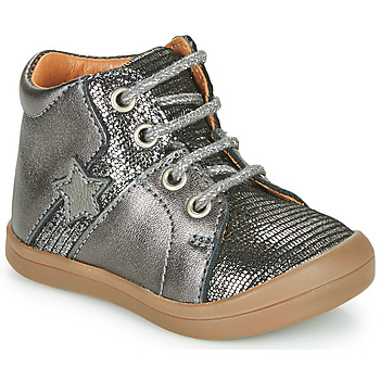 Shoes Girl Mid boots GBB DUANA Grey / Silver