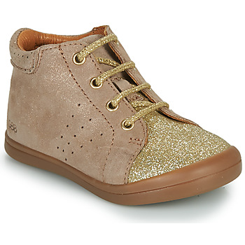 Shoes Girl Mid boots GBB NAHIA Beige / Gold