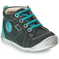 Shoes Boy Mid boots GBB OLAN Black / Blue