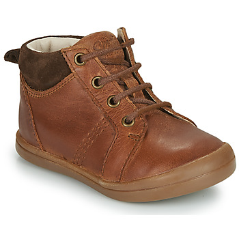 Shoes Boy High top trainers GBB NILS Brown