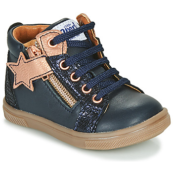 Shoes Girl High top trainers GBB VALA Marine / Pink