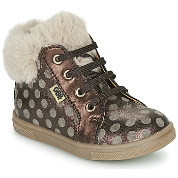 Shoes Girl High top trainers GBB JUNA Brown