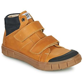 Shoes Boy High top trainers GBB HENI Cognac