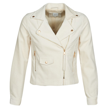 material Women Leather jackets / Imitation le Only ONLBIANCA Beige