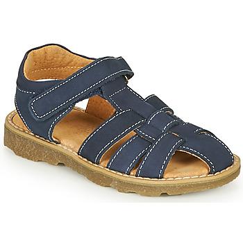 Shoes Boy Sandals André TURTLE Marine