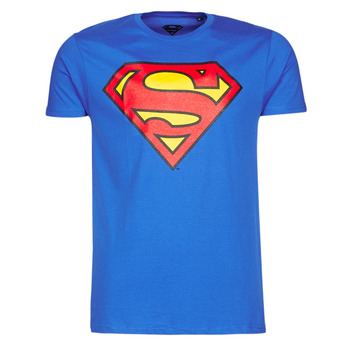 material Men short-sleeved t-shirts Casual Attitude SUPERMAN LOGO CLASSIC Blue