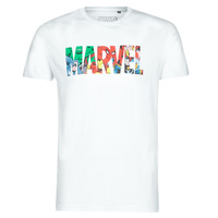 material Men short-sleeved t-shirts Casual Attitude MARVEL HERO LOGO White