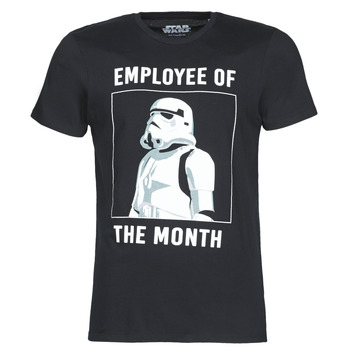 material Men short-sleeved t-shirts Casual Attitude STORMTROOPER OF THE MONTH Black