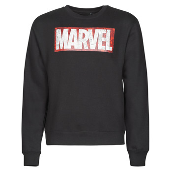 material Men sweaters Casual Attitude MARVEL MAGAZINE CREW Black