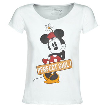 material Women short-sleeved t-shirts Moony Mood MINNIE PERFECT GIRL White