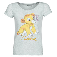 material Women short-sleeved t-shirts Yurban THE LION KING Grey