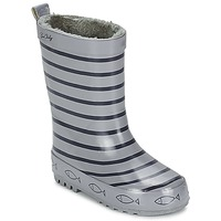 Shoes Children Wellington boots Be Only TIMOUSS Grey / Marine