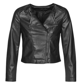 material Women Leather jackets / Imitation le Only ONLDALY Black