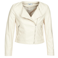 material Women Leather jackets / Imitation le Only ONLDALY Beige