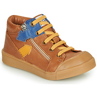 Shoes Boy High top trainers GBB IONNIS Brown